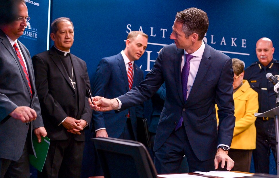 Groups sign the Utah Compact
