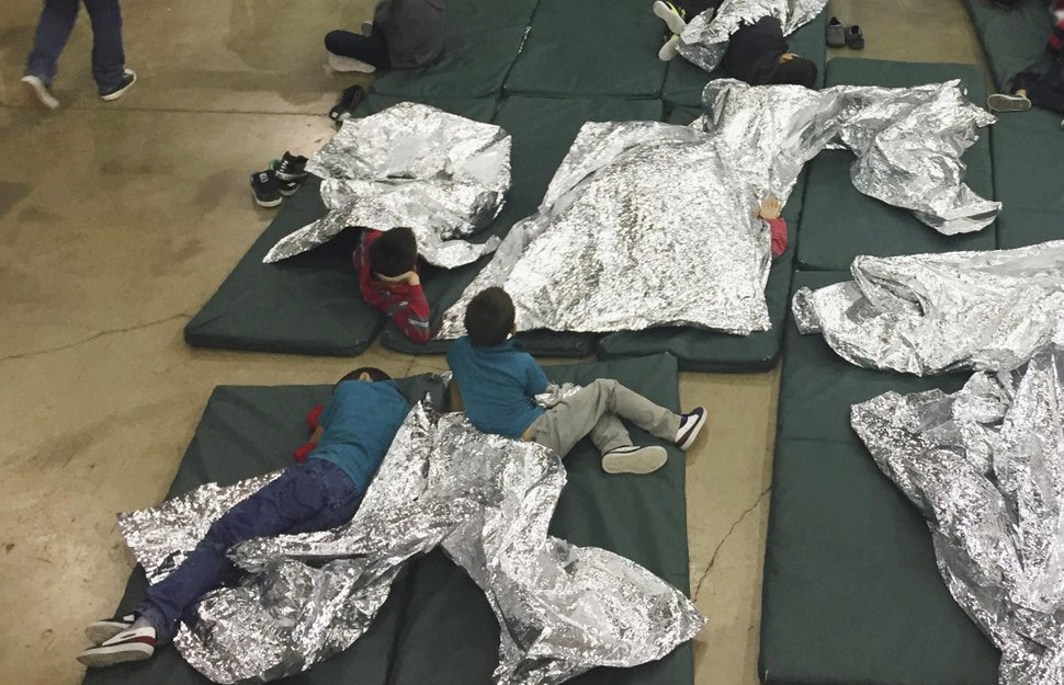 Kids in the immigration facility in McAllen, Texas