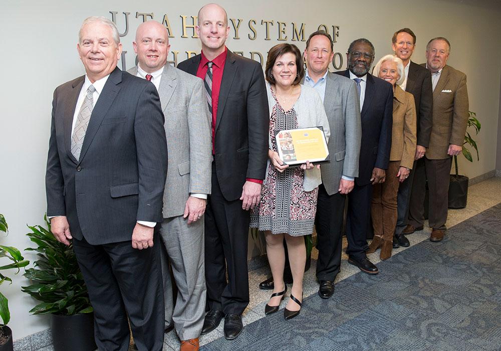 Promise Partnership team receiving StriveTogether award