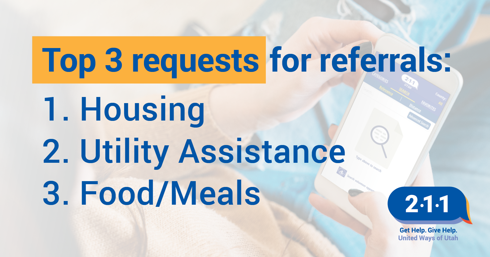 3 requests for referrals utah 211