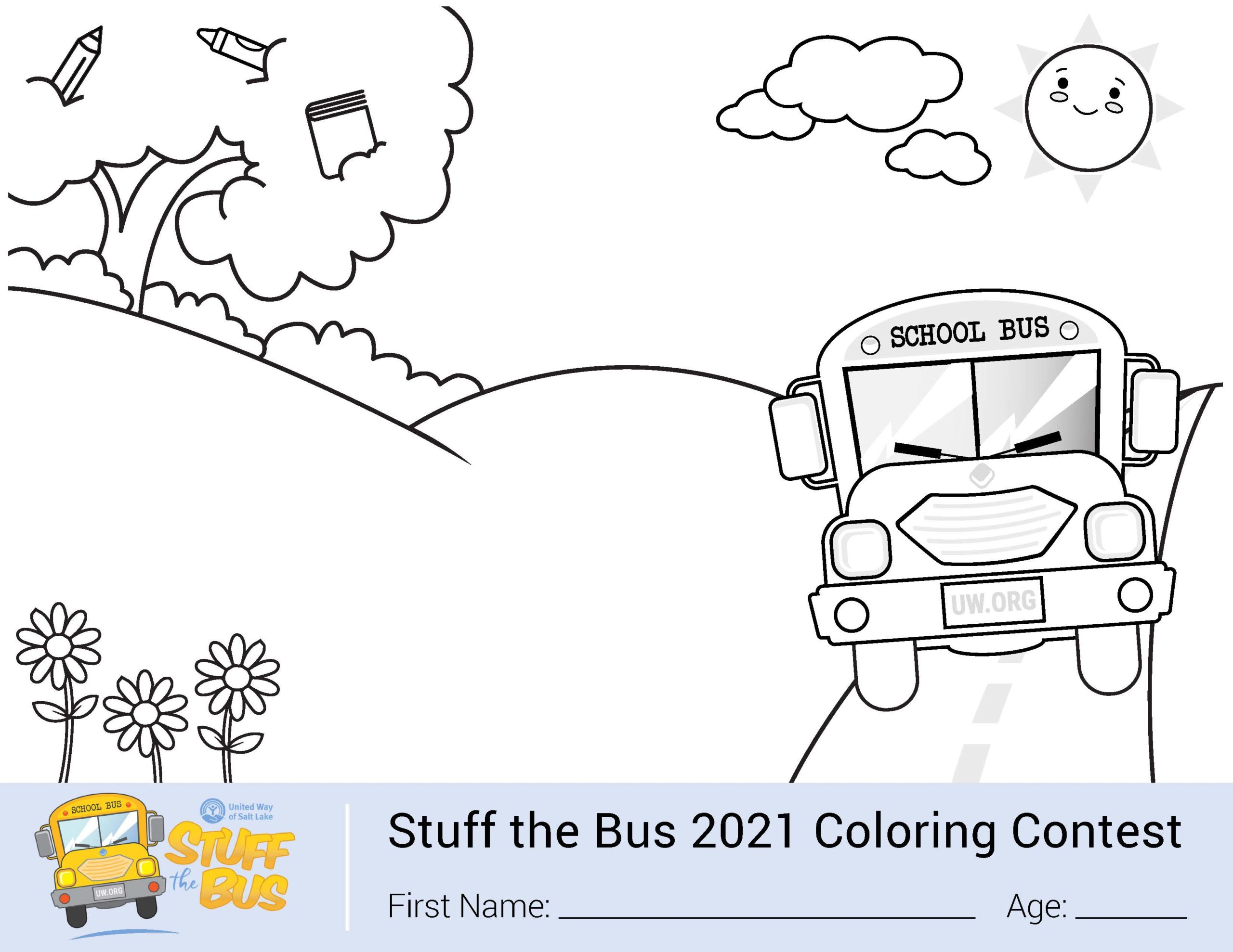 Stuff the Bus Coloring Contest